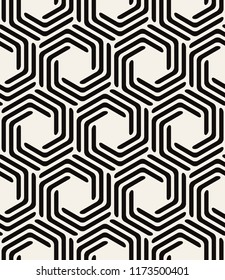 Vector seamless pattern. Modern stylish texture. Repeating geometric tiles with smooth hexagonal elements. Can be used as swatch for illustrator.