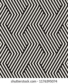 Vector seamless pattern. Modern stylish texture. Repeating geometric background. Striped hexagonal grid. Bold graphic design. Can be used as swatch for illustrator.