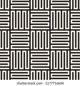 Vector seamless pattern. Modern stylish abstract texture. Repeating geometric wavy lines tiles