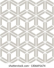 Vector seamless pattern. Modern stylish texture with monochrome trellis. Repeating geometric triangular grid. Simple graphic design. Neutral soft backdrop. Subtle grey neutral print.