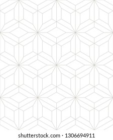 Vector seamless pattern. Modern stylish texture with thin monochrome trellis. Repeating geometric triangular grid. Simple graphic design. Neutral soft backdrop. Subtle grey linear print.