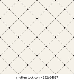 Vector seamless pattern. Modern stylish texture. Repeating geometric tiles with dotted rhombus