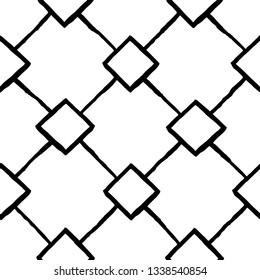Vector seamless pattern. Modern stylish texture. Repeating geometric tiles with squares and rhombuses