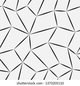 Vector seamless pattern. Modern stylish texture. Repetition of geometric tiles with a grid of quadrangles of different shapes.