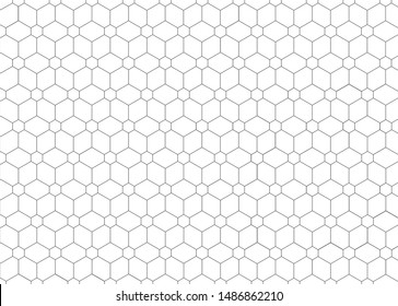 Vector seamless pattern. Modern stylish texture. Repeating geometric hexagons