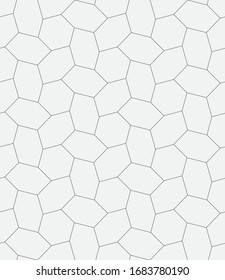 Vector seamless pattern. Modern stylish texture. Repeating geometric hexagons.