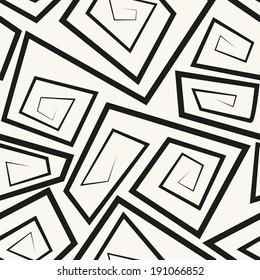 Vector seamless pattern. Modern stylish linear texture with broken spiral