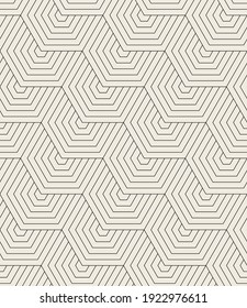 Vector seamless pattern. Modern stylish texture. Repeating geometric background. Striped thin zigzag elements. Can be used as swatch for illustrator.