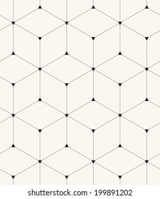 Vector seamless pattern. Modern stylish texture. Repeating geometric background with linear rhombus and triangles