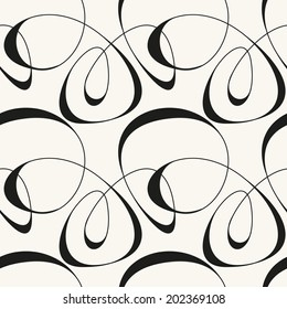 Vector seamless pattern. Modern stylish texture. Repeating abstract background with tangled line