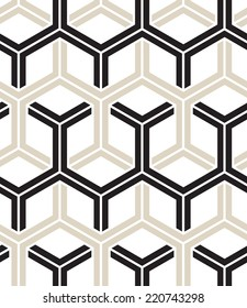 Vector seamless pattern. Modern stylish texture. Repeating geometric background with hexagons