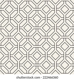 Vector seamless pattern. Modern stylish texture. Repeating geometric tiles with octagons and rhombuses