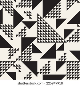 Vector seamless pattern. Modern stylish texture. Repeating geometric tiles. Composition from triangles