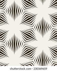 Vector seamless pattern. Modern stylish texture. Repeating geometric tiles. Background with monochrome flowers