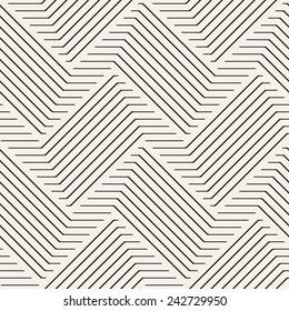 Vector seamless pattern. Modern stylish texture. Geometric striped ornament. Monochrome braids