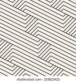 Vector seamless pattern. Modern stylish texture. Geometric striped ornament. Monochrome linear grid