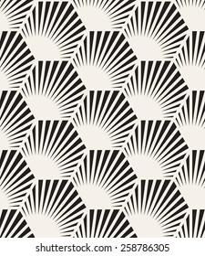 Vector seamless pattern. Modern stylish texture. Repeating geometric tiles. Elegance hexagonal scales