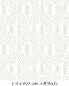 Vector seamless pattern. Modern stylish texture. Repeating geometric tiles. Striped subtle grid with hexagonal yin yang. Contemporary graphic design.