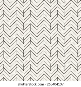 Vector seamless pattern. Modern stylish texture with chevron or zigzag. Repeating geometric background with linear grid.