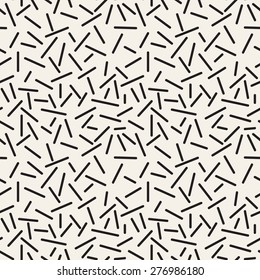 Vector seamless pattern. Modern stylish texture. Repeating abstract background with chaotic strokes. Trendy hipster print.