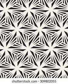 Vector seamless pattern. Modern stylish texture. Repeating geometric tiles with triangles. Contemporary graphic design. Simple hipster background.