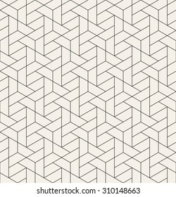 Vector seamless pattern. Modern stylish linear texture. Repeating geometric tiles with trapezoidal elements.