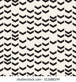 Vector seamless pattern. Modern stylish texture with chevrons. Repeating geometric background.