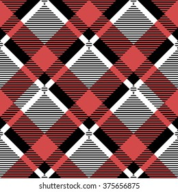 Vector seamless pattern. Modern stylish texture. Repeating geometric tiles with dotted square.