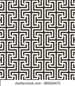 Vector seamless pattern. Modern stylish texture. Repeating Greek pattern. Monochrome swatch with meander.