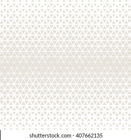Vector seamless pattern. Modern stylish texture. Repeating geometric tiles. Triangles of different size are forming stylish grid with thickness which decreases gradually.