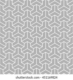 Vector seamless pattern. Modern stylish texture. Repeating geometric tiles with hexagonal ornament