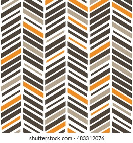 Vector seamless pattern. Modern stylish texture with colorful chevron. Repeating geometric background.