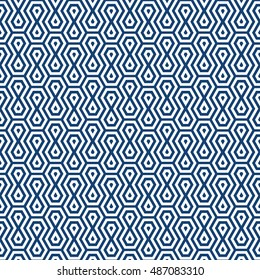Vector seamless pattern. Modern stylish texture. Repeating geometric tiles with dotted rhombuses. Minimalistic simple design.