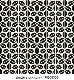 Vector seamless pattern. Modern stylish texture. Repeating geometric tiles. Stylized ornament.