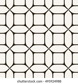 Vector seamless pattern. Modern stylish texture. Repeating geometric tiles with square grid.