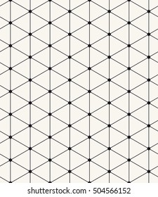 Vector seamless pattern. Modern stylish texture. Repeating abstract background with rounded triangles. Stylish minimalistic black grid.