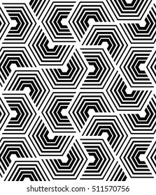 Vector seamless pattern. Modern stylish texture. Repeating geometric pattern of hexagonal tiles.
