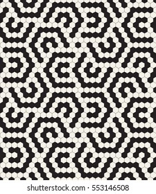 Vector seamless pattern. Modern stylish texture. Repeating geometric tiles with hexagonal elements.