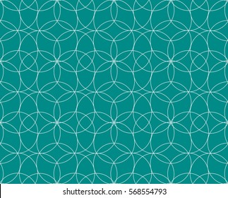 Vector seamless pattern. Modern stylish texture. Repeating geometric tiles. Concentric circles