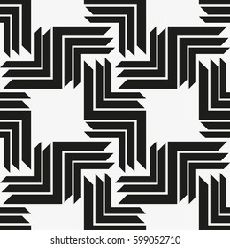 Vector seamless pattern. Modern stylish texture. Repeating geometric tiles with a grid of the corners.
