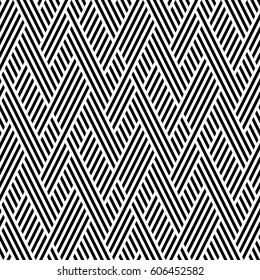 Vector seamless pattern. Modern stylish texture. Monochrome geometric pattern from intersecting strips.