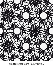 Vector seamless pattern. Modern stylish texture with figures of wavy lines. Geometric abstract background.