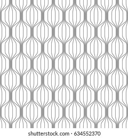 Vector seamless pattern. Modern stylish texture. Monochrome geometric pattern. Mesh with thin curving threads.