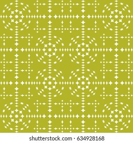 Vector seamless pattern. Modern stylish texture. Repeating geometric tracery. Contemporary graphic design. Yellow color Background.