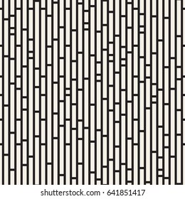 Vector seamless pattern. Modern stylish texture. Repeating geometric background. Monochrome rectangles and squares.