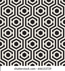 Vector seamless pattern. Modern stylish bold texture. Repeating geometric tiles with hexagonal elements.