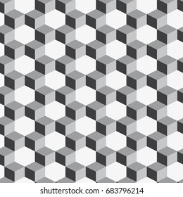 Vector seamless pattern. Modern stylish texture. Repeating geometric tiles with cubes.