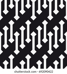 Vector seamless pattern. Modern stylish texture. Repeating geometric tiles with strips and rhombuses.