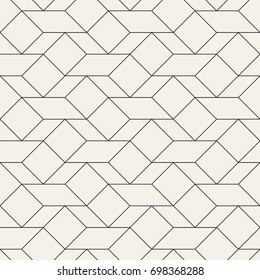 Vector seamless pattern. Modern stylish texture. Repeating geometric tiles with simple trapezoids and squares.