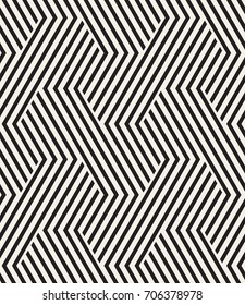 Vector seamless pattern. Modern stylish texture. Repeating geometric background. Striped hexagonal grid. Bold graphic design.